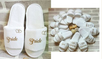 Win bride slippers!