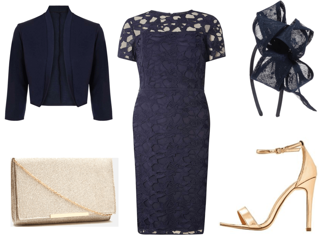 Navy bargain wedding guest outfit for autumn your for Navy dress for fall wedding