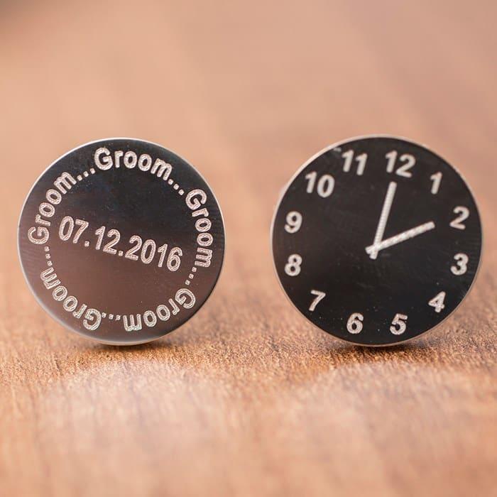 personalised groom cufflinks