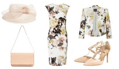 Reduced floral Phase Eight outfit