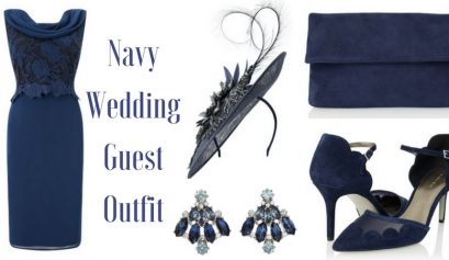 Navy Wedding Guest Outfit