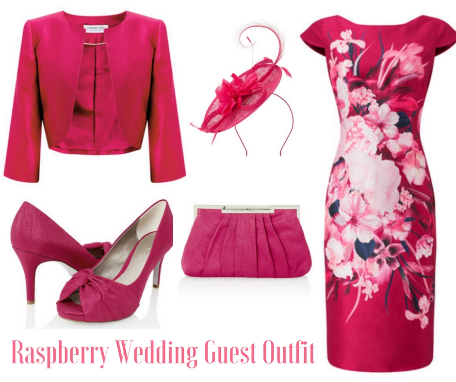 Raspberry Wedding Guest Outfit