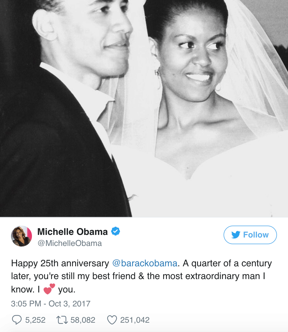 obama wedding anniversary