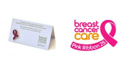 breast cancer care wedding favours