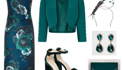 emerald green outfit