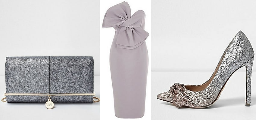 purple and glitter river island outfit