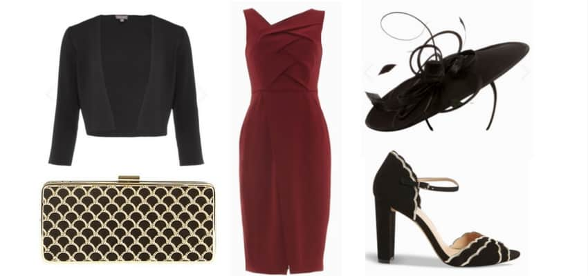 black and red jacques vert outfit