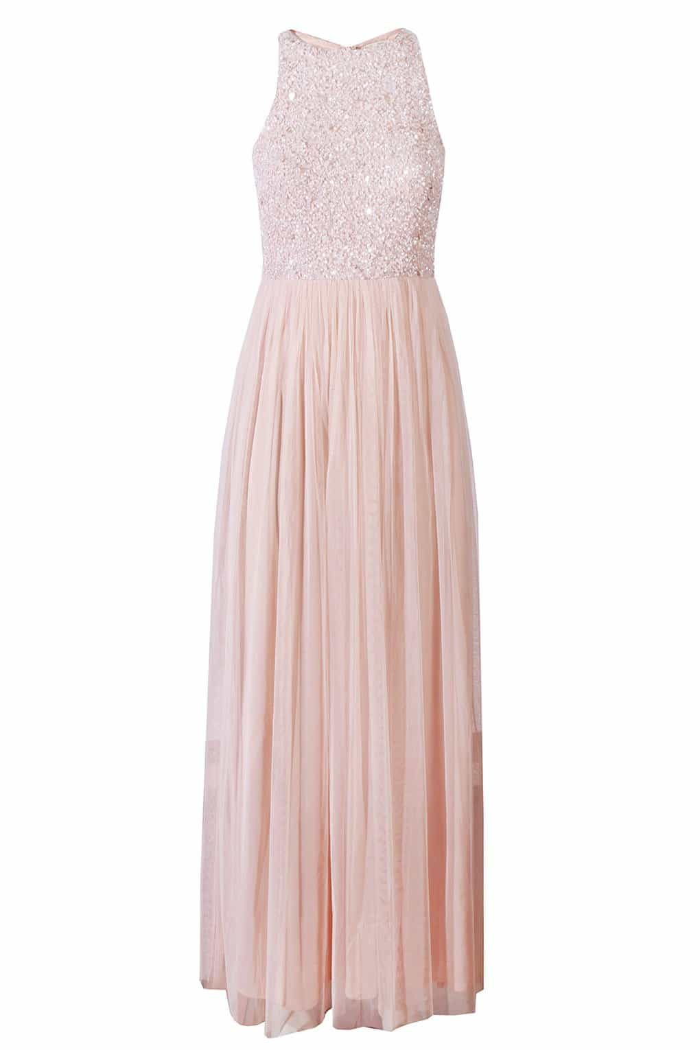lace and beads maxi dress