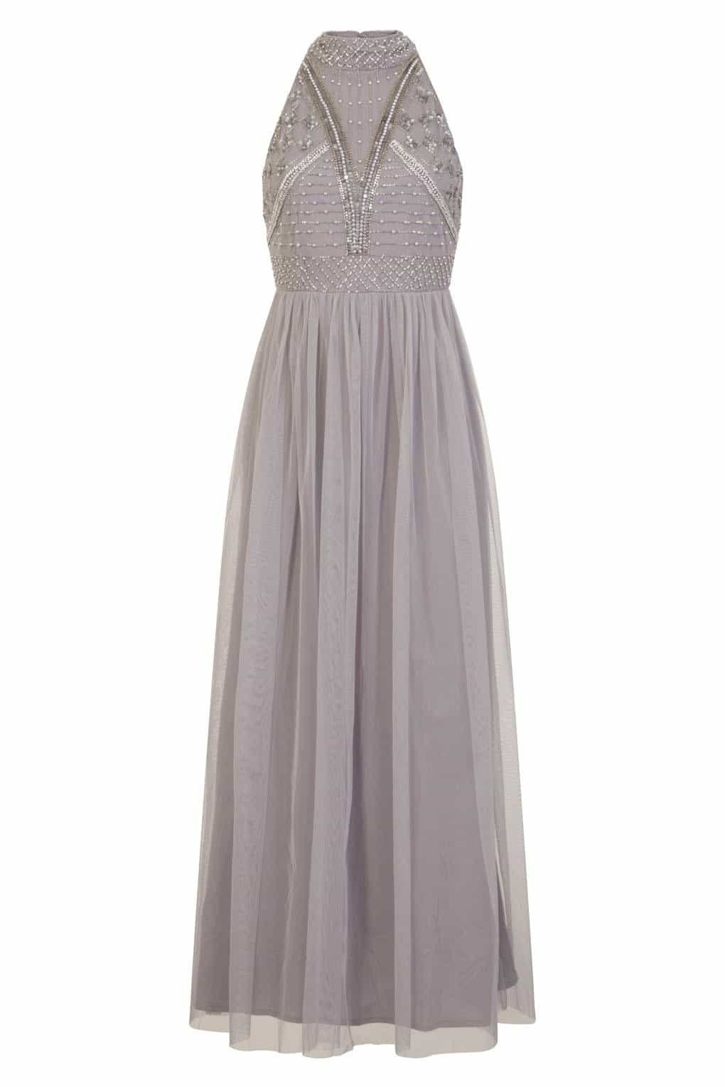 Lace & Beads Acinthe Grey Dress