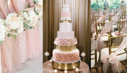 rose gold wedding inspo