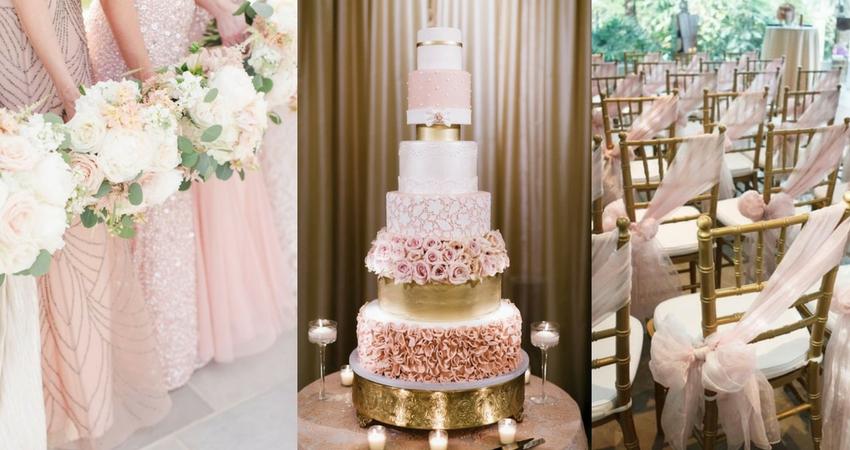 rose gold wedding inspo