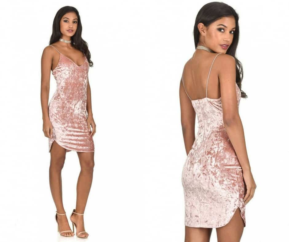 blush velvet dress ax paris