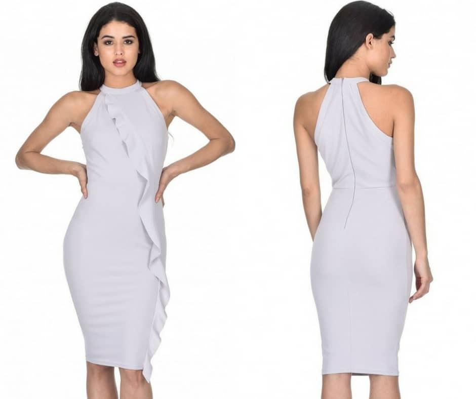 grey dress ax paris