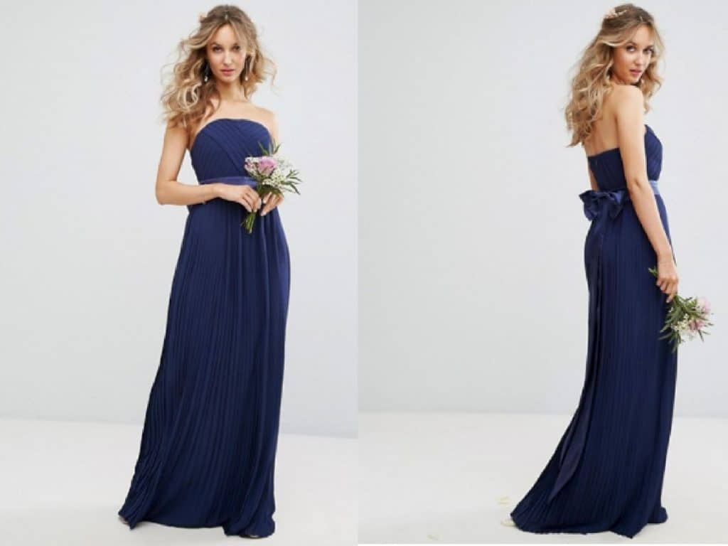 10 gorgeous winter bridesmaid dresses under 80 your wedding hub a bandeau style can still be rocked in the winter simply team this with a grey fur shawl to keep it super cosy navy is such a nice colour for winter ombrellifo Choice Image
