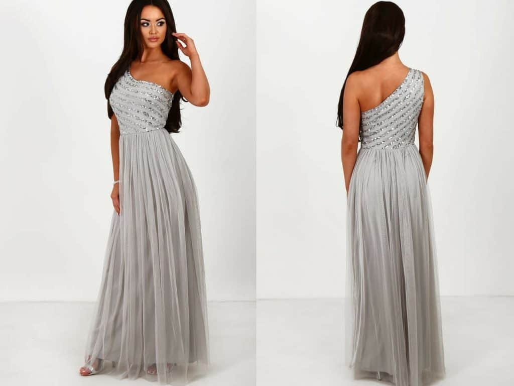 10 gorgeous winter bridesmaid dresses under 80 your wedding hub pink boutique grey one shoulder sequin maxi dress ombrellifo Choice Image