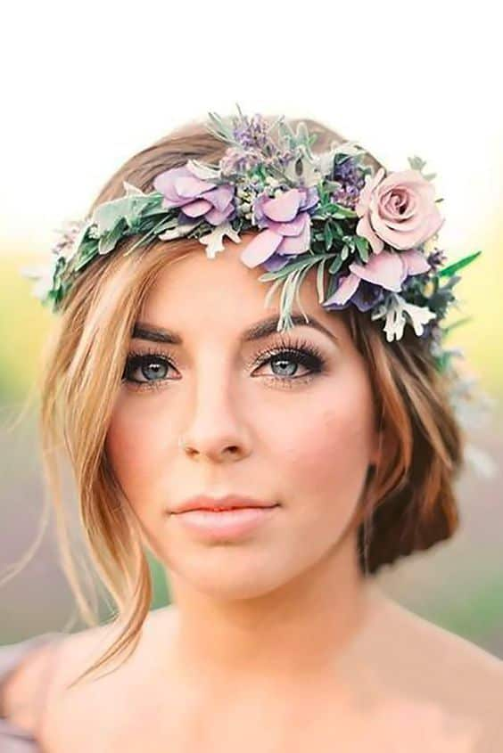 boho floral head crown