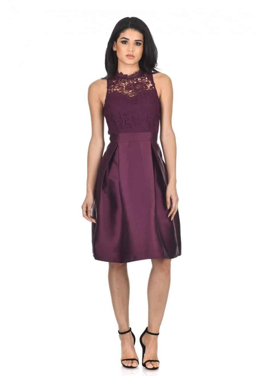 plum 2 in 1 dress