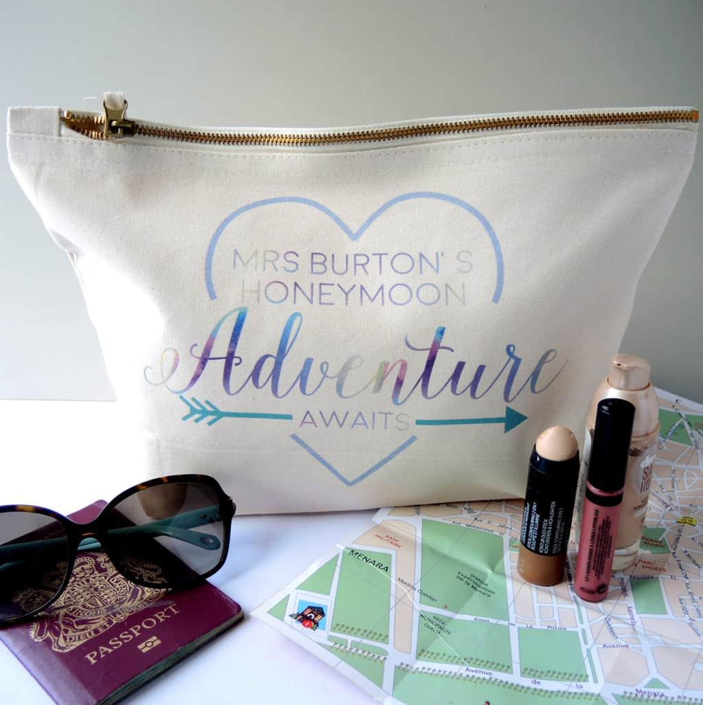 honeymoon make up bag