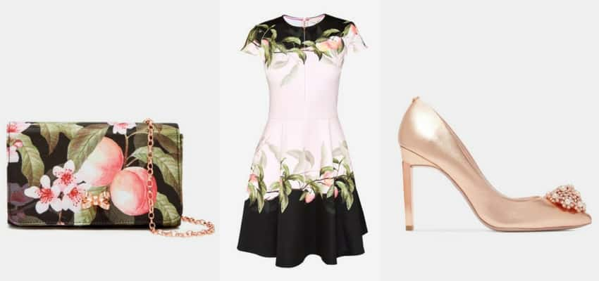 peach and gold ted baker