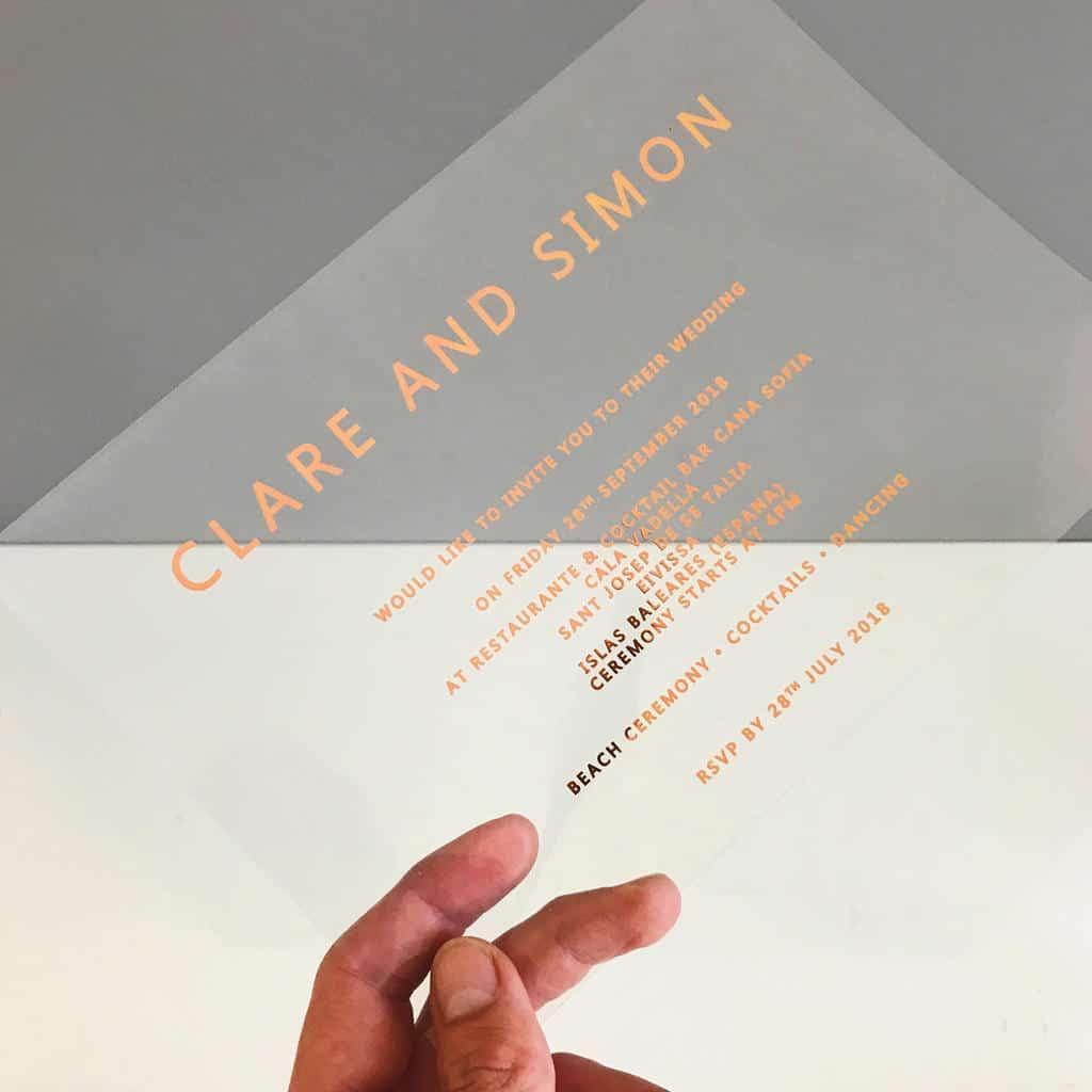 transparent invitation