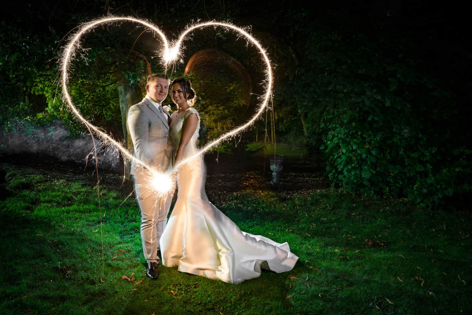 real wedding sparkler