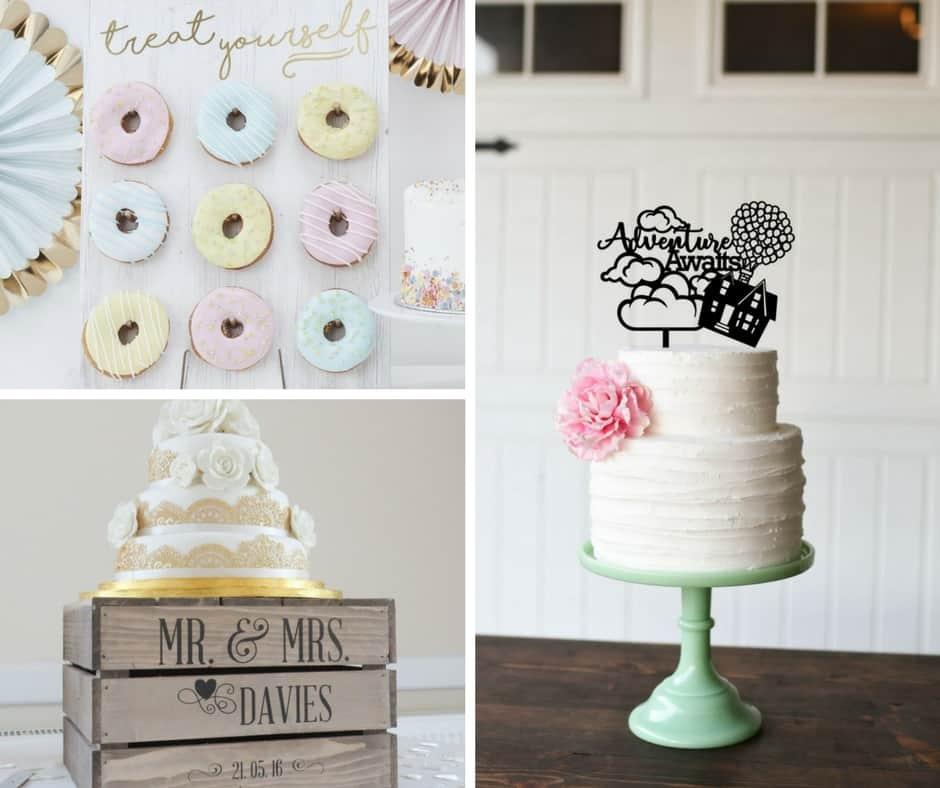 cake decor wedding etsy blog