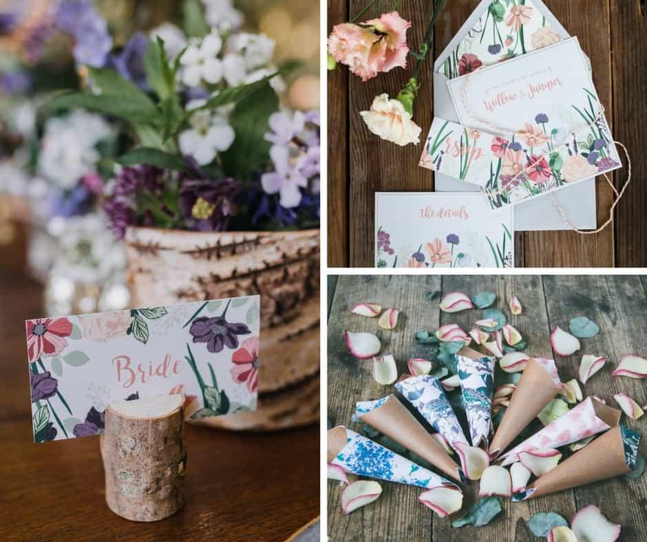 spring wedding stationery