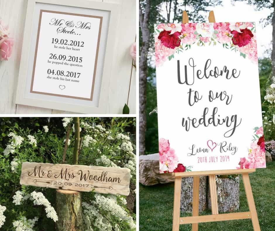 wedding signs etsy decor blog