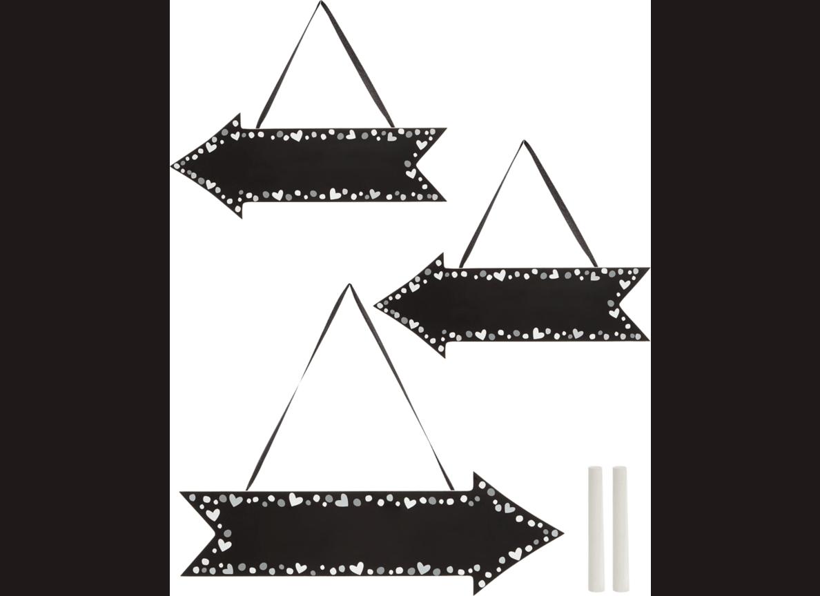 chalkboard arrows