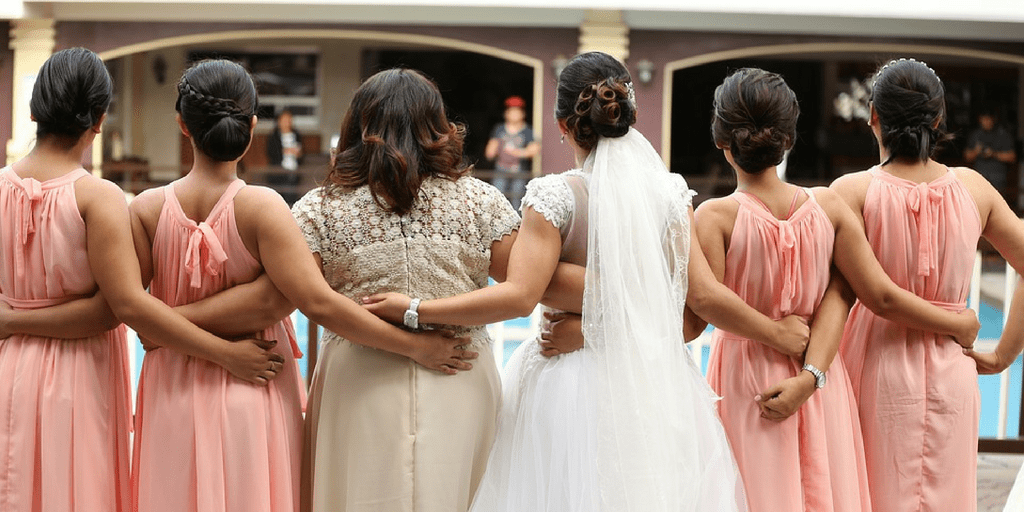 7 stages bridesmaid