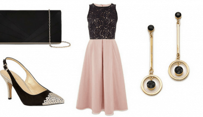 PINK AND BLACK LACE OUTFIT