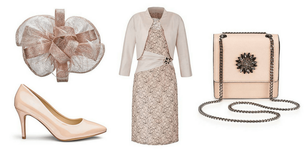nude mother of the bride outfit