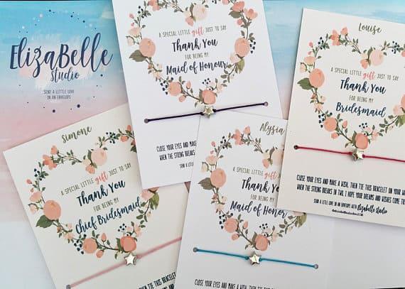 Bridesmaid Wish Bracele
